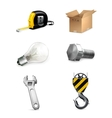 Industrial icons set vector image vector image