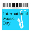 international music day 1 october cultural vector image vector image