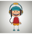 kid headphones music icon vector image vector image