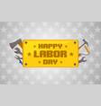 labor day celebration icon vector image vector image