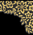 lace background with gold flowers vector image vector image