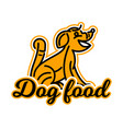 logo on the theme of food for dogs purebred dog vector image vector image