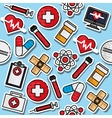 Medical color pattern vector image vector image