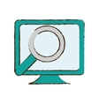 monitor search computer device sketch vector image