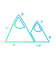 mountains icon design vector image