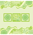 Nature pattern background spring vector image vector image