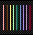 neon tube light pack isolated on transparent vector image vector image