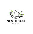 nest house logo icon vector image vector image