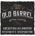 old barrel poster vector image