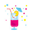 party cocktail isolated icon vector image vector image