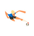 player shooting a soccer ball vector image vector image