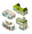 school buildings isometric 3d pictures school vector image vector image