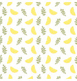 seamless floral pattern lemon fruits background vector image