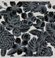 seamless pattern with hand drawn stylized hibiscus vector image