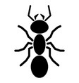 separated ant silhouette logo symbol icon sign vector image
