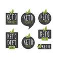 set badge keto diet flat ketogenic diet logo vector image vector image