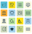 Set of 16 education icons includes library vector image