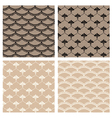 Set of four seamless lace patterns vector image vector image