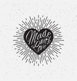sparkling heart lettering vector image vector image