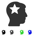 star head flat icon vector image vector image