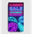 summer sale vertical banner design template vector image vector image