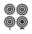 target bullet designs vector image
