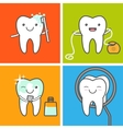 Teeth care and hygiene icons vector image vector image