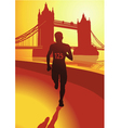 The Runner in London vector image vector image