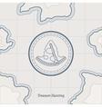 Treasure Map Background vector image