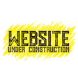under construction banners grouped and layered vector image