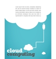 vintage style cloud computing poster vector image vector image