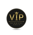 Vip members only vector image vector image