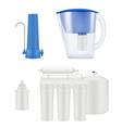 water filter kitchen treatment aqua purification vector image