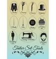 Set of tailor shop black items vector image