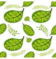 green leaf seamless spring-summer pattern vector image