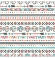 Tribal hand drawn line geometric mexican ethnic vector image