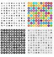 100 active life icons set variant vector image vector image