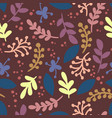 abstract leafs retro seamless vintage pattern vector image