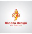 banana design vector image vector image