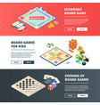 banners of board games horizontal banners vector image