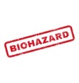Biohazard Text Rubber Stamp vector image vector image