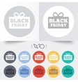 Black friday gift sign icon Sale symbol vector image vector image