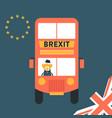 brexit concept united kingdom leaving eu vector image vector image