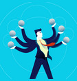 business multitasking man concept vector image