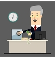 Bussinessman boss manager Successful vector image