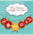 christmas decoration card scandinavian style vector image vector image