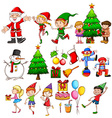 Christmas party celebration vector image