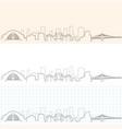 cincinnati hand drawn skyline vector image vector image