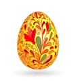 Colorful easter yellow egg with ornate doodle vector image vector image