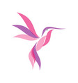 colorful hummingbird icon symbol in modern flat vector image vector image